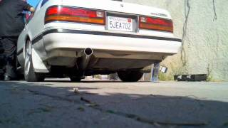 "Cressida with 1UZ swap and full 3"" Stainless exhaust."