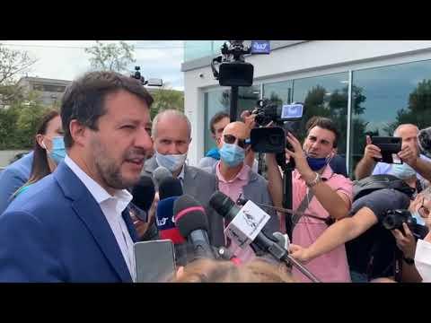 Le dichiarazioni stampa di Matteo Salvini a Castelfidardo (Ancona) (24.09.20)