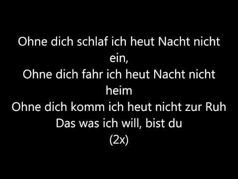 Ohne Dich- Münchner Freiheit lyrics