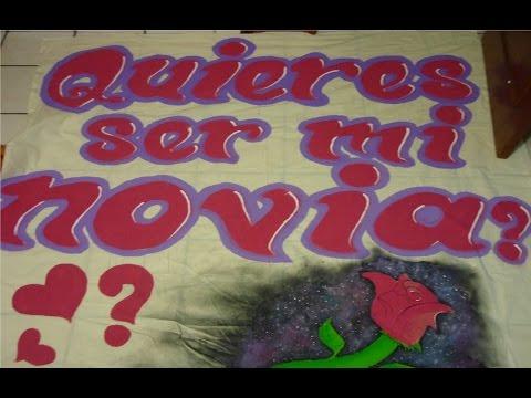 """Haciendo manta de """"Quieres ser mi novia?"""" :3 - YouTube"""