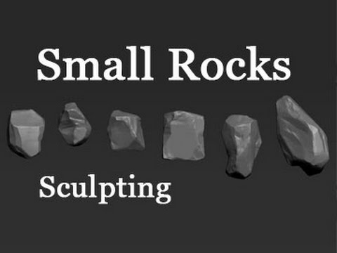 Game Assets - Small Rocks - Part 1 - Sculpting
