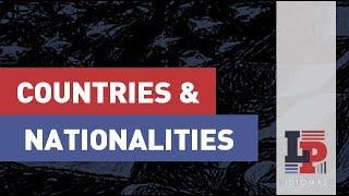 Países e Nacionalidades em Inglês - Countries and Nationalities
