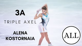 Alena KOSTORNAIA ALL TRIPLE AXELS 3A АлёнаКосторная