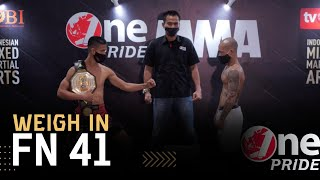 Tensi Tinggi Saat Sesi Wawancara, Billy Pasulatan VS Brando Mamana | Weigh In One Pride MMA FN 41
