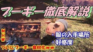 【MHW】プーギー解説!服と好感度について【プーギー】 thumbnail
