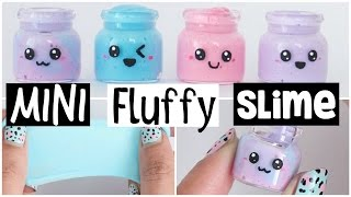 DIY MINI FLUFFY SLIME!