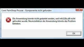 Arreglar error mfc110u.dll y mfc100u.dll