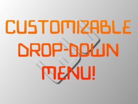 how to create drop down menu using jquery
