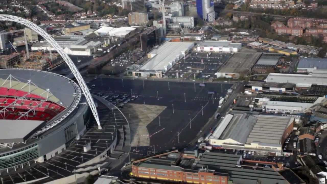 wembley stadium aerial view youtube. Black Bedroom Furniture Sets. Home Design Ideas