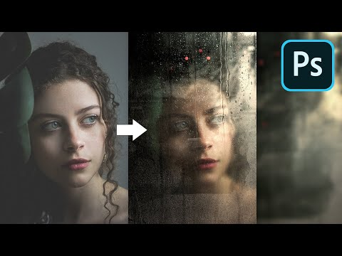 Create Realistic Wet Glass Effect in Photoshop!