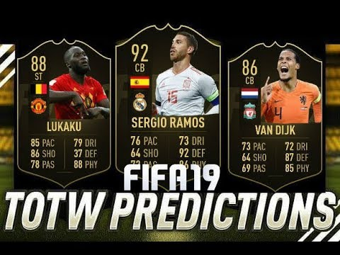 FIFA 19 TEAM OF THE WEEK 5 PREDICTIONS !! TOTW 5 ft. IF Ramos , IF Van Dijk , IF Lukaku