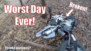 THE WORST DAY EVER |  SURVIVING IN THE WILD | CRASHED MY BIKE