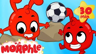 Morphle Plays Soccer - My Magic Pet Morphle | Cartoons For Kids | Morphle TV | Mila and Morphle Video