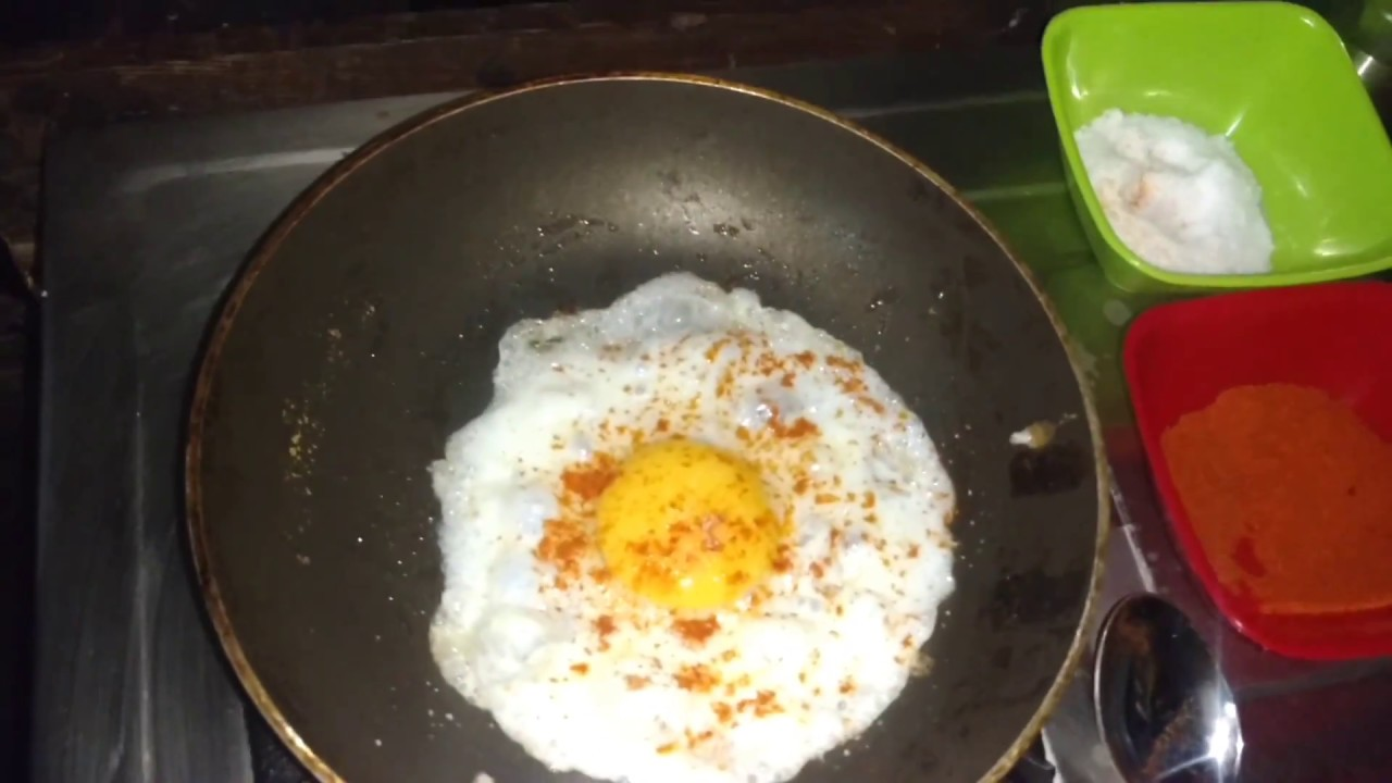 how to make Half Boiled Egg Omelette - YouTube