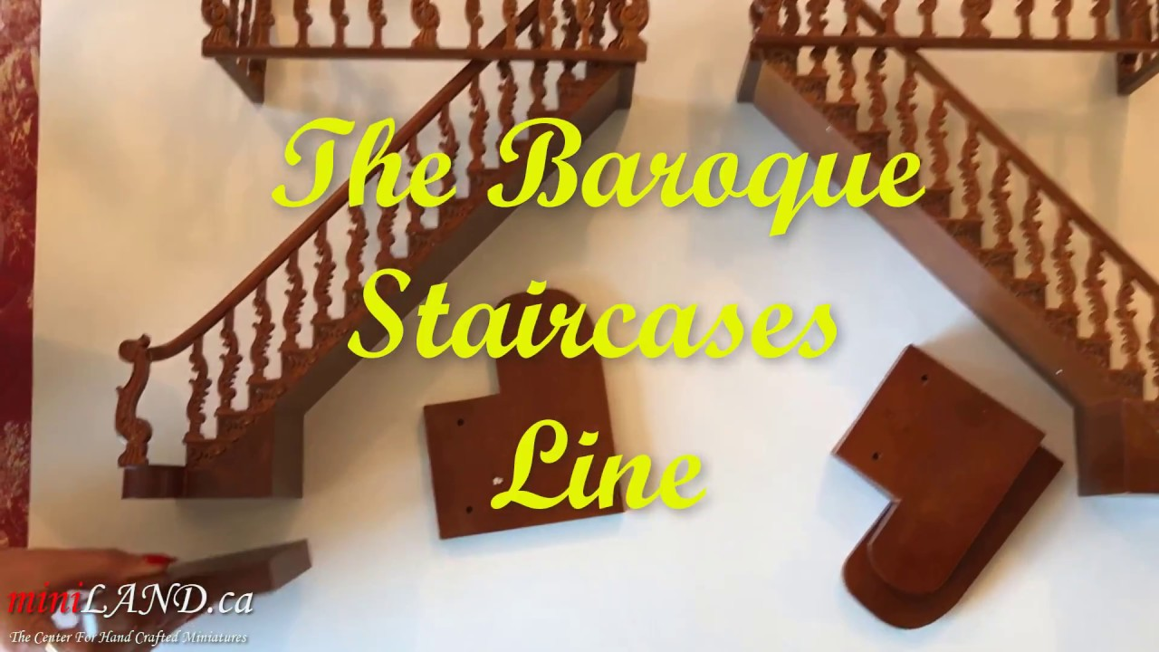 Baroque staircases for 1:12 dollhouse miniatures by miniLAND ca