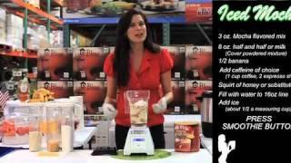 Iced Mocha Frappachino made using a Vitamix or Blendtec blender - Costco Blendtec Roadshow