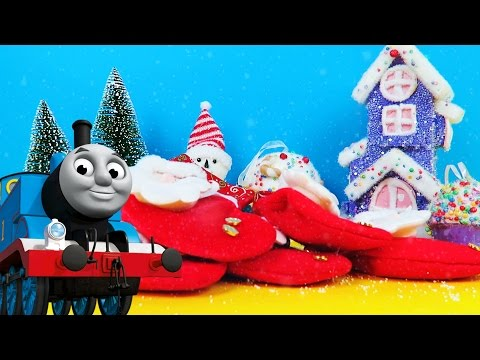 THOMAS & FRIENDS CHRISTMAS SURPRISE STOCKINGS with Christmas songs and train sounds