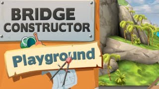 Bridge Constructor Playground - Lösung Level 1 Tutoria Brücke 1-8 (iphone, Ipad, Ios, Android)