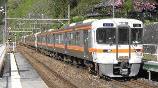 【313系6両】JR中央西線 倉本駅に快速ナイスホリデー木曽路 運転停車