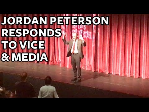 Jordan Peterson Responds to VICE News CBC & Mainstream Media at UBC