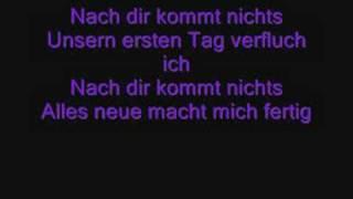 Tokio Hotel - Nach dir kommt nichts lyrics