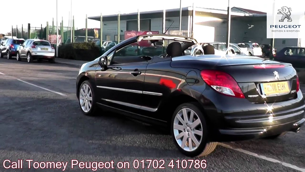 2011 peugeot 207 cc gt onyx black metallic en11euk. Black Bedroom Furniture Sets. Home Design Ideas