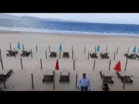 Sanxenxo prepara sus playas para el verano