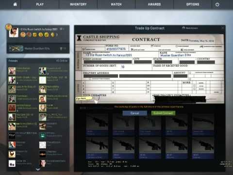 CS GO   New update Trade up Contract   Mil spec grade guns