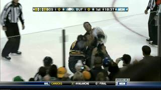 Milan Lucic vs. Paul Gaustad 11/23/2011 (1080p)