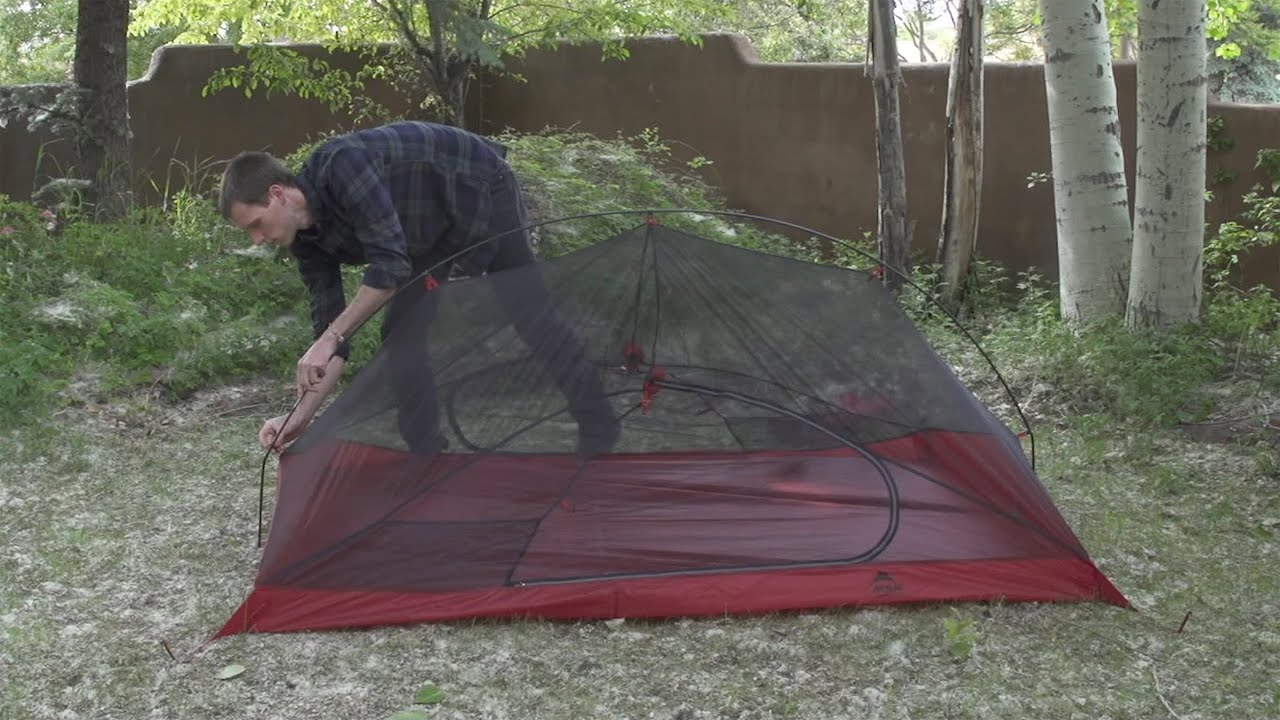 First Impressions MSR Carbon Reflex 2 Ultralight Tent & First Impressions: MSR Carbon Reflex 2 Ultralight Tent - YouTube