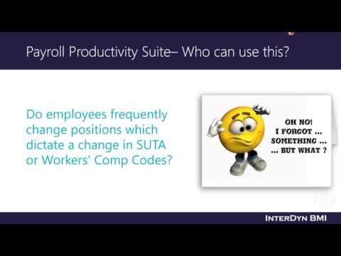 Payroll Productivity Suite