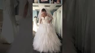 Дизайнерское свадебное платье для беременных