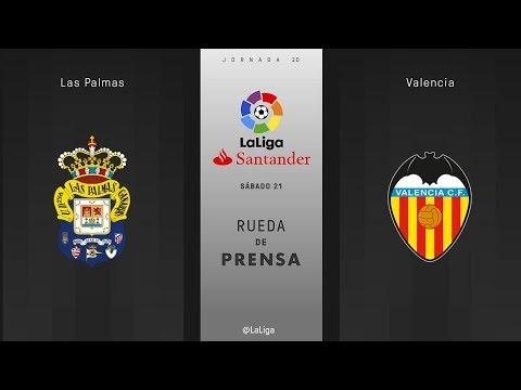 Rueda de prensa Las Palmas vs Valencia