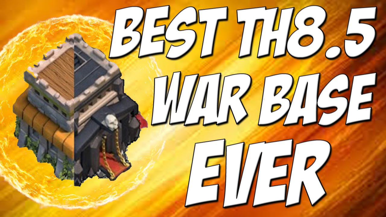 Best TH 8.5 War Base Design Ever! | Attacked 10 Times in Clan War | Clash  of Clans - YouTube