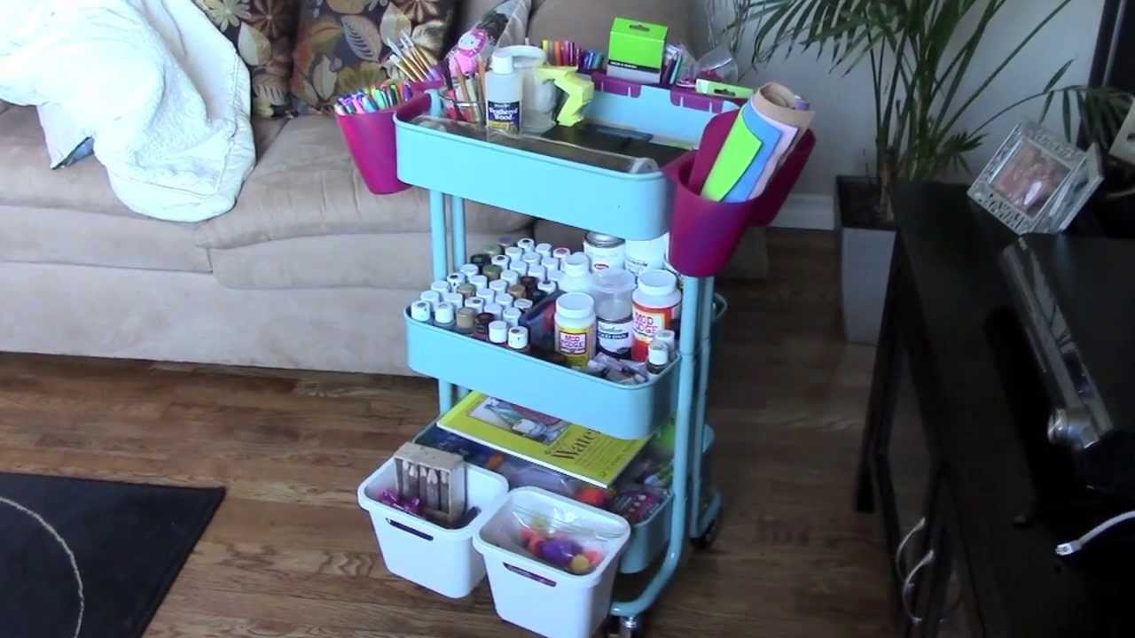 how to organize your art supplies youtube. Black Bedroom Furniture Sets. Home Design Ideas