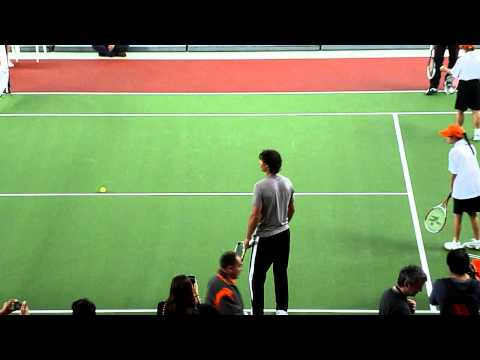 Nadal and Djokovic - Tennis clinic in Bogotá, Colombia - Compensar