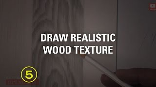 Draw Realistic Wood Texture (touchable Textures #8)