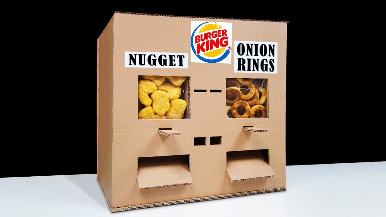 Diy How To Make Burger King Nuggets And Onion Rings Vending Machine