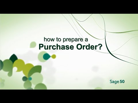 How to prepare Purchase Order with Sage 50 Hong Kong & Greater China Edition