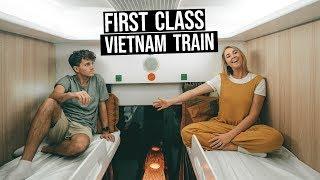 13 Hour First Class Sleeper Train in Vietnam | Hanoi to Hue Overnight