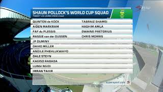 Shaun Pollock Picks His Proteas 2019 Cricket World Cup Squad