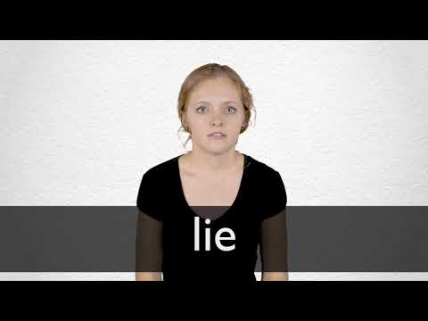 Lie definition and meaning | Collins English Dictionary