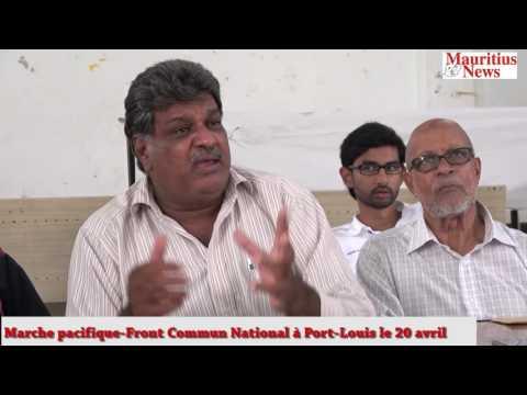 Mauritius News: Marche pacifique Front Commun National à Port Louis le 20 avril
