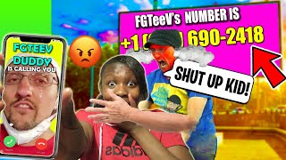 EXPOSING FGTeeV Duddy&#39s REAL NUMBER! OMG HE ANSWERED &amp CAME TO MY HOUSE! (FV Family &amp Funnel Vision)
