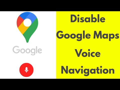 How To Turn On/Disable Voice Navigation On Google Maps & Also Change Lady Voice Language