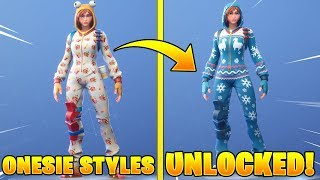 *NEW* ONESIE SKIN STYLE UNLOCKED! Fortnite Battle Royale Overtime Challenges!