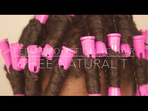 Perm Rod Set on 4C Hair | Thee Natural T