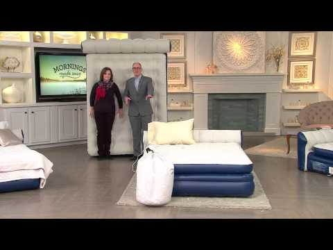 AeroBed Queen Size Elevated Headboard Bed w Built-In Pump with Pat James-Dementri