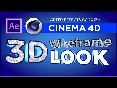 Create 3D wireframe animations with Cinema 4D & After Effects CC 2017 - Tutorial, Sean Frangella