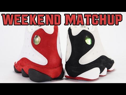 Air Jordan 13 Chicago vs Air Jordan 13 He Got Game   Weekend Matchup